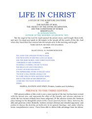 LIFE IN CHRIST - Hunger Truth