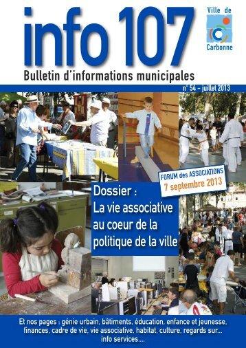 Info 107 - n°54 - Juillet 2013 - Carbonne
