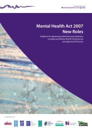 Mental Health Act 2007 New Roles - National Mental Health ...