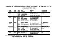 programa curso de induccion para residentes de hematologia de ...