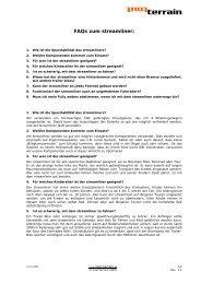 FAQs zum streamliner: - Tout Terrain