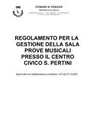 regolamento per la gestione della sala prove musicali presso il ...