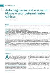Anticoagulação oral nos muito idosos e seus determinantes clínicos