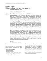 Rejuvenating bad hair transplants - JPAD - Journal of Pakistan ...