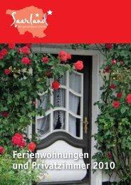 Ferienwohnungen - Tourismus Zentrale Saarland
