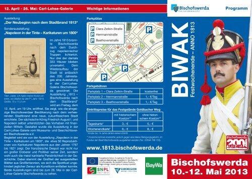 BIWAK anno 1813 - 10. bis 12. Mai 2013 - Programm - Bischofswerda