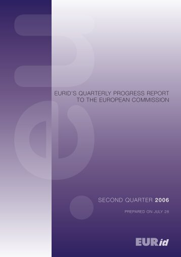 EURid's QUaRtERly pRogREss REpoRt to thE EURopEan ...