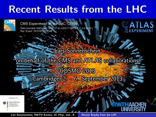 Recent Results from the LHC