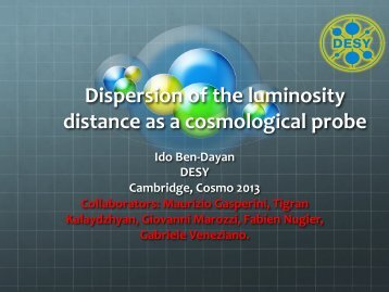 Dispersion of the luminosity distance as a cosmological probe