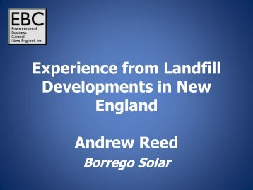 Andrew Reed - Environmental Business Council of New England, Inc.