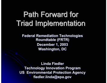 Path Forward for Triad Implementation - Federal Remediation ...