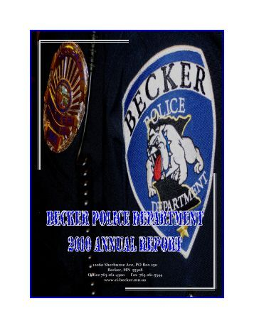 2010 Annual Police Report - City of Becker