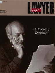 Fall 1994 – Issue 47 - Stanford Lawyer - Stanford University