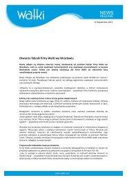 Otwarcie fabryki firmy Walki we Wrocławiu