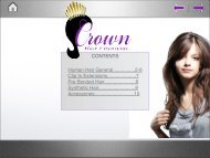 CONTENTS Human Hair General................2-6 Clip In Extensions ...