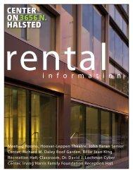 rental brochure - Center on Halsted