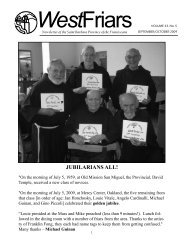JUBILARIANS ALL! - Holy Name Province