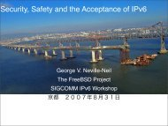 Security, Safety and the Acceptance of IPv6