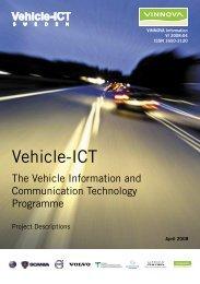 Vehicle-ICT - The Vehicle Information and Communication ... - Vinnova