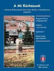 A Mi Kórházunk: 2002. december ( IV/6) - Szent János Kórház