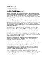 Potensi Kerugian Rp 33,2 T - Greenomics Indonesia