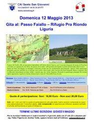 Locandina Maggio 2013 - CAI - sezione di Sesto San Giovanni
