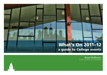 What's On? - Royal Holloway, University of London