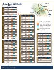 Rocky Mountaineer Rail Schedule 2013 - Rocky Mountain Holidays