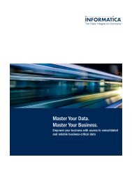 Master Your Data. Master Your Business. - Informatica