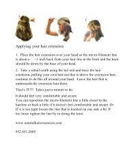 Applying your hair extension - Natural Hair Extensions