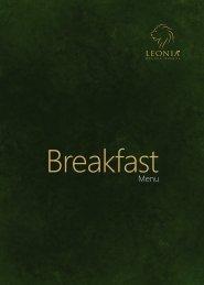 Breakfast - Leonia Holistic Destination