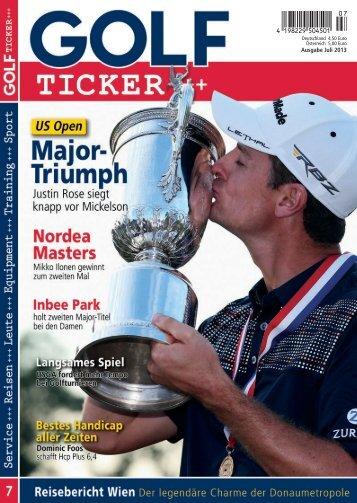 Ausgabe Juli 2013 - Golf Ticker