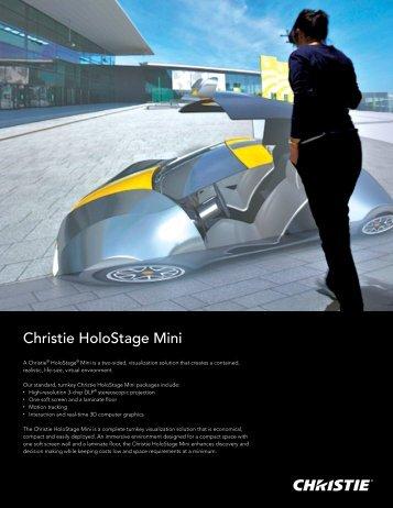 Christie HoloStage Mini Datasheet - Christie Digital Systems