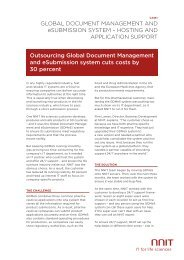 GLOBAL DOCUMENT MANAGEMENT AND eSUBMISSION ... - NNIT