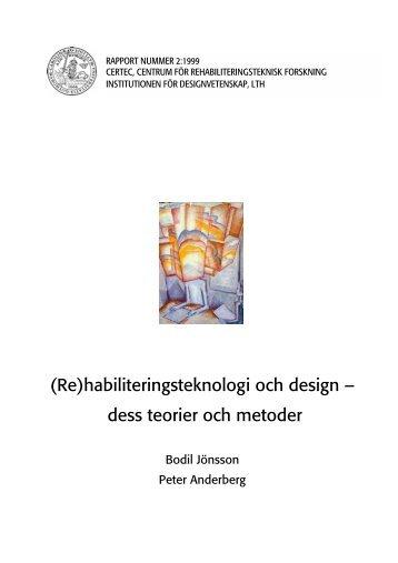 dess teorier och metoder - Certec - Lunds Tekniska Högskola