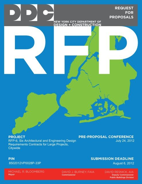 RFP-6, Six Architectural and Engineering Design Requirements