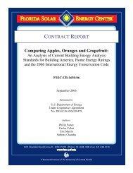 Comparing Apples, Oranges and Grapefruit - Florida Solar Energy ...