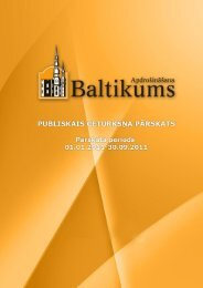 Finanšu rādītāji par 2011.gada 3.ceturksni - Baltikums