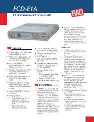 FCD-E1A - RAD TÜRKİYE Data Communications