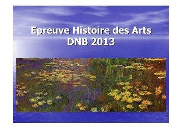 Diaporama Histoire des Arts DNB 2013