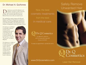 8-388 Hair Removal brochure REVISED.indd - Dr. Q Cosmetics