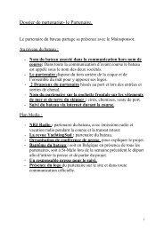 Dossier de partenariat- le Partenaire. - Proximedia