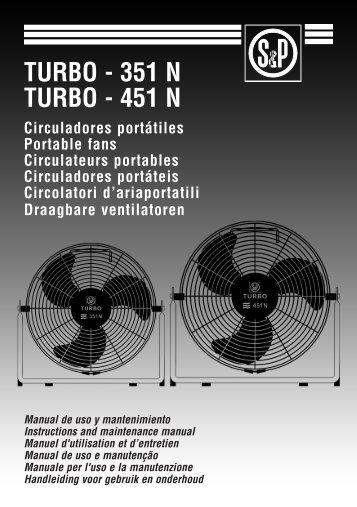 turbo - 351 n turbo - Soler & Palau Sistemas de Ventilación, SLU