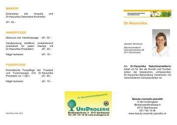 Dr.Hauschka - Urs Drogerie