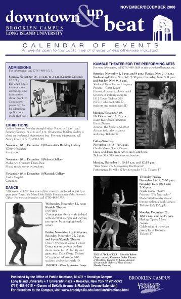 December 2008 calendar PDF - Long Island University