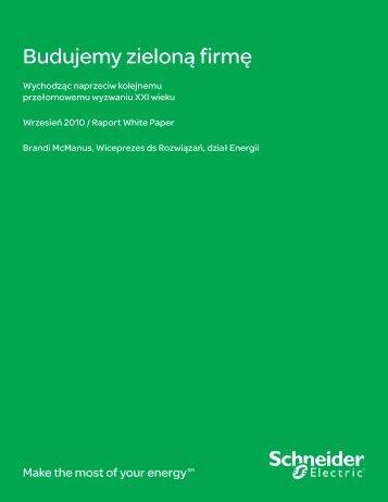 Budujemy zieloną firmę - Schneider Electric