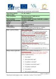 Materiál pro domácí přípravu žáků: VY_09_Vla4E_8 Název ...