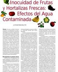 Inocuidad de Frutas y Hortalizas Frescas: Efectos del Agua ...