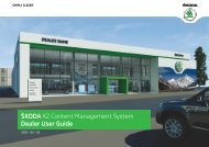Å KODA K2 Content Management System Dealer User ... - Skoda Auto