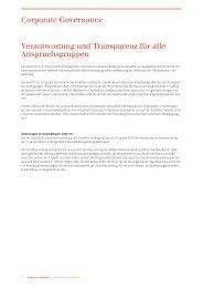 Verantwortung und Transparenz für alle ... - Schaffner